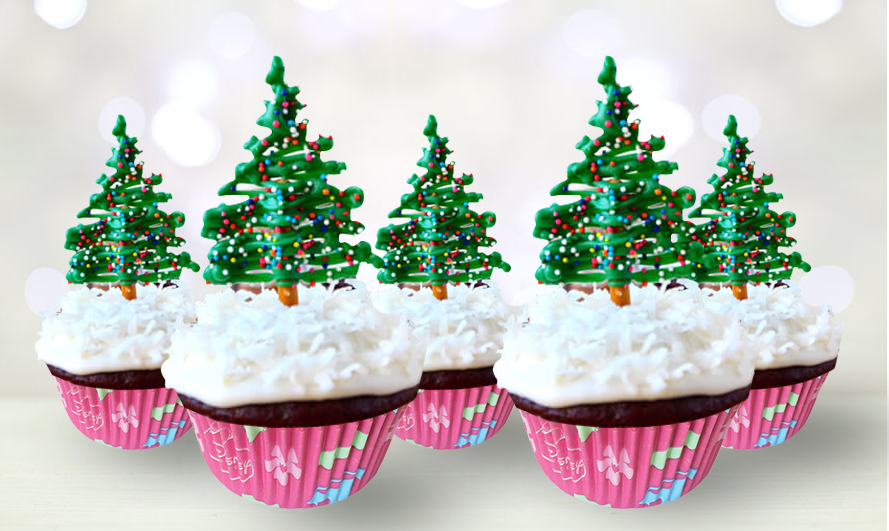 Christmas Tree Cup Cakes To Please Your Taste Buds