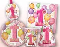1st Birthday Pink Balloons