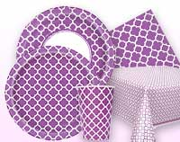 Pretty Purple Quatrefoil Supplies