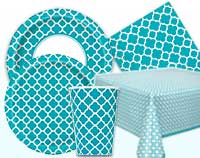 Caribbean Teal Quatrefoil Supplies