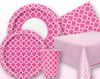 Hot Pink Quatrefoil Supplies