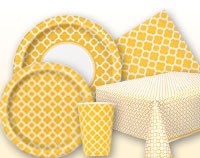 Sunflower Yellow Quatrefoil Supplies