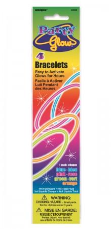 """Glow Bracelets Assorted 8"""" (4)"""