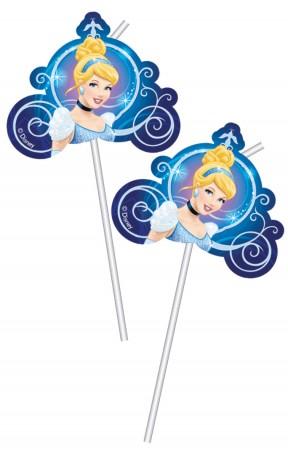 Cinderella Medallion Flexi Drinking Straws (6)