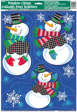 Jolly Snowman Window Clings Sheet (1)