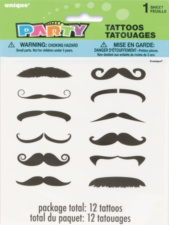 Mustache Finger Tattoos (12)