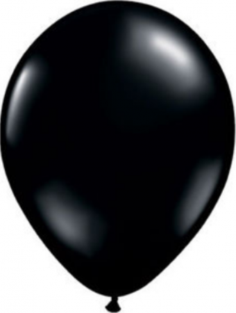 Jet Black Latex Balloons (15)
