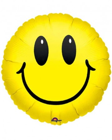 "Smiley Face Foil Balloon 18"" (1)"