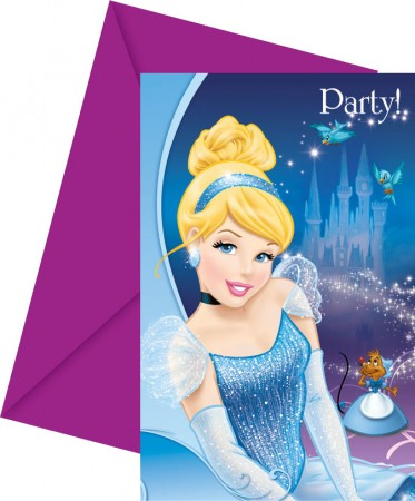 Cinderella Invitations & Envelopes (6)