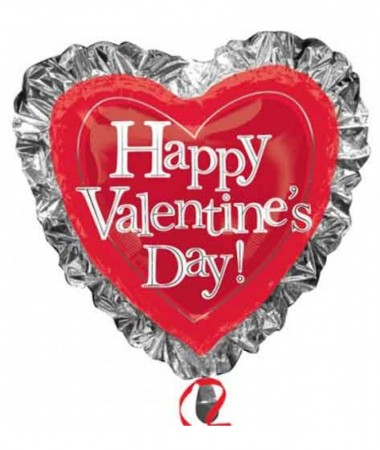 "28"" Happy Valentines Day Heart Foil Balloon (1)"
