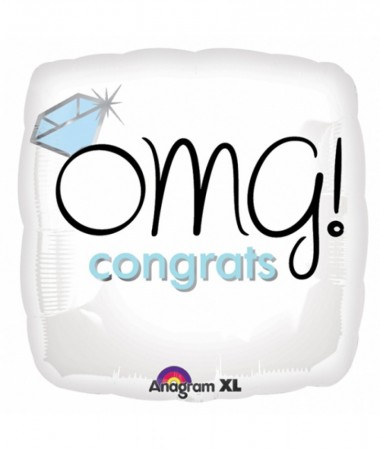 """18"""" OMG Congrats Foil Balloon-(1)"""