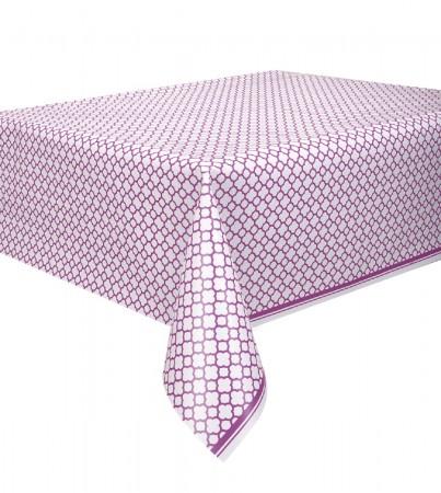Pretty Purple Quatrefoil Tablecover (1)