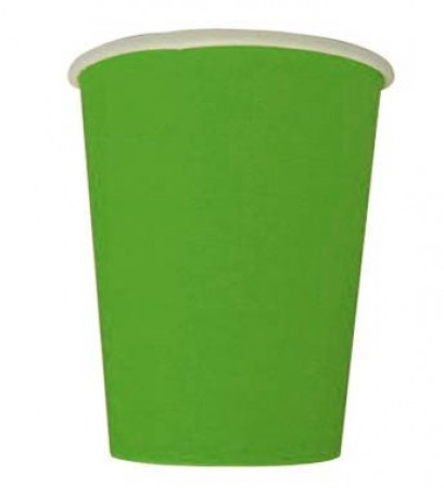 9 Oz (250 ml) Lime Green Cups (20)