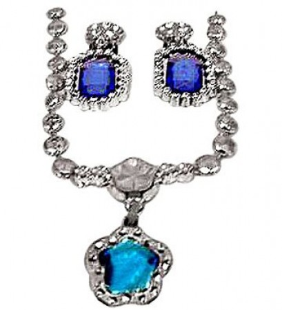 Blue Gem Pendant Set (1)
