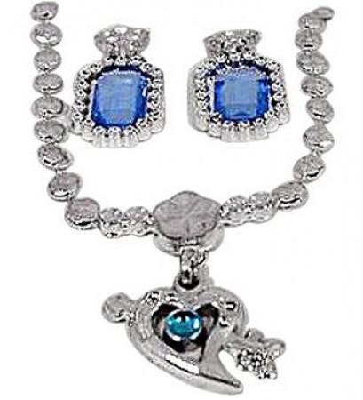 Blue Heart Pendant Set (1)