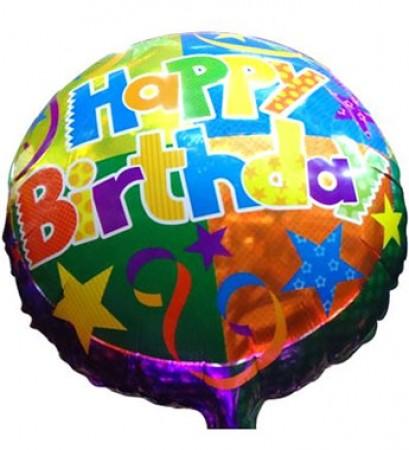 Multi Star Happy Birthday Foil Balloon (1)