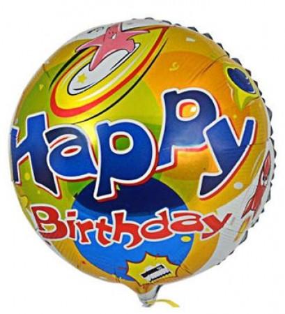 Happy Birthday Star & Rocket Ship Foil Balloon (1)