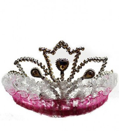 Hot Pink Lace Tiara (1)