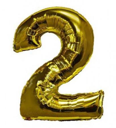 Number 2 Golden Balloon (1)