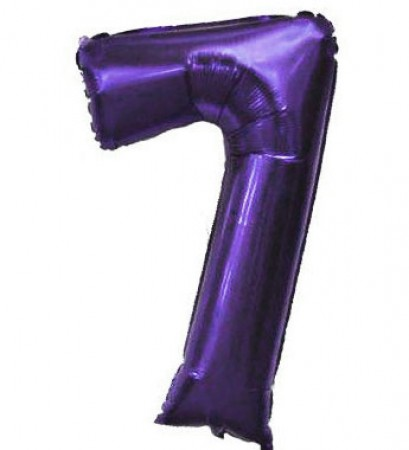 Number 7 Purple Balloon (1)