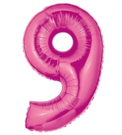 Number 9 Hot Pink Balloon (1)