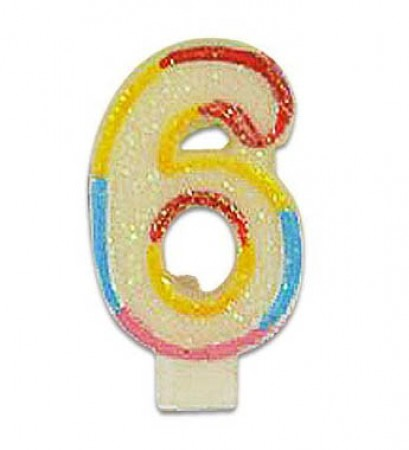 Numeral 6 Candle (1)