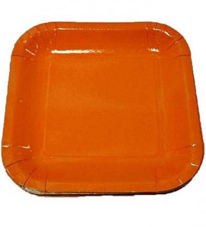 Orange Square Dessert Plates (20)