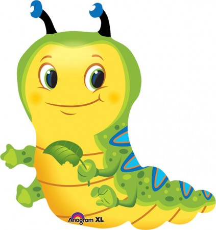 "28"" Cute Caterpillar Shape Foil Balloon (1)"