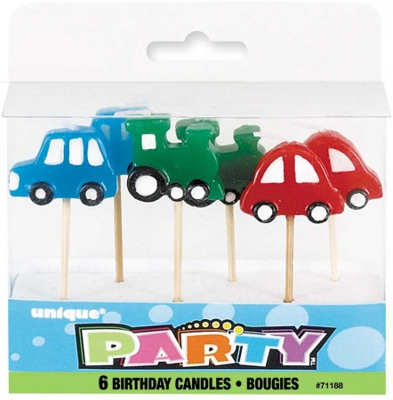 Car Pick Birthday Candles (6)