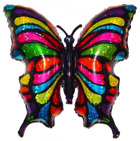 "33"" Pop Art Butterfly Foil Balloon (1)"
