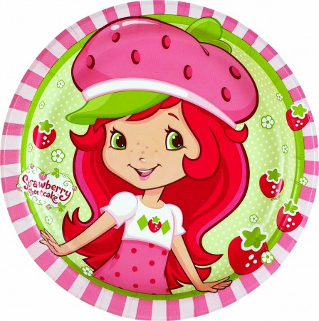 Strawberry Shortcake Dessert Plates (8)