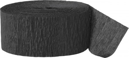 Black Crepe Streamers 81 Ft (1)