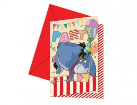 Winnie Alphabet Invitations & Envelopes (6)