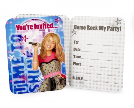 Hannah Montana Rock The Stage Invitations (8)