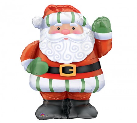 "Whimsical Santa Foil Balloon 28"" (1)"