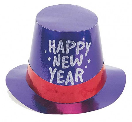 New Year's Foil Glitter Top Hat (1)