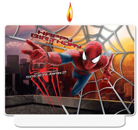 The Amazing Spiderman Happy Birthday Décor Candle (1)
