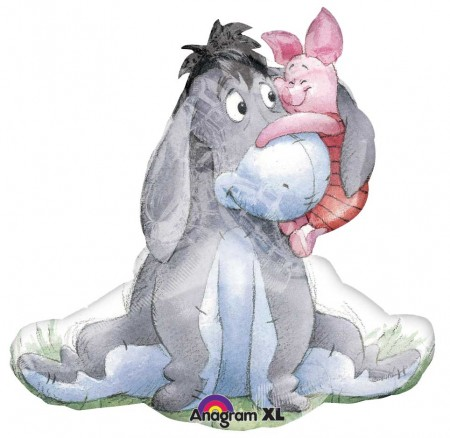 "31"" Eeyore And Piglet Shape Foil Balloon (1)"