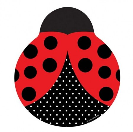 Ladybug Fancy Lunch Plates (8)