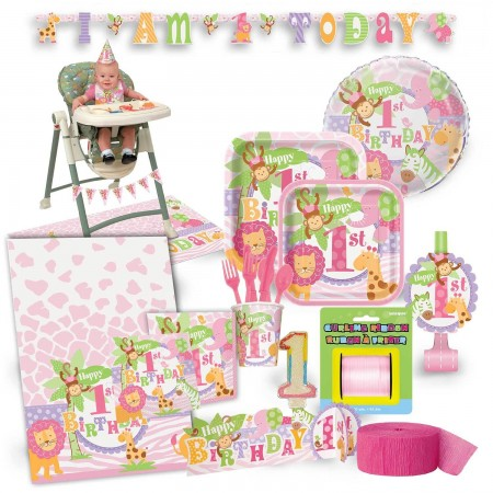 1st Birthday Pink Safari Premium Kit