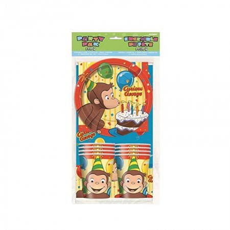 Candle Curious George Party Pack for 8 (1)