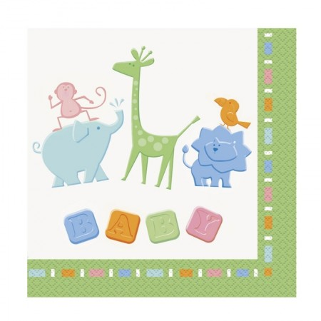 Animal Crackers Lunch Napkins (16)