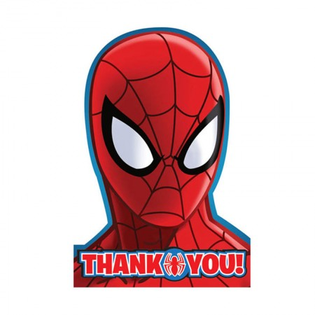 Spiderman Thank You Card (8)