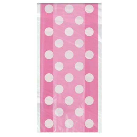 Hot Pink Dots Cello Bags (20)