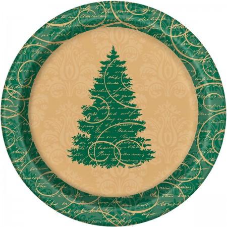 Elegant Christmas Dessert Plates (8)
