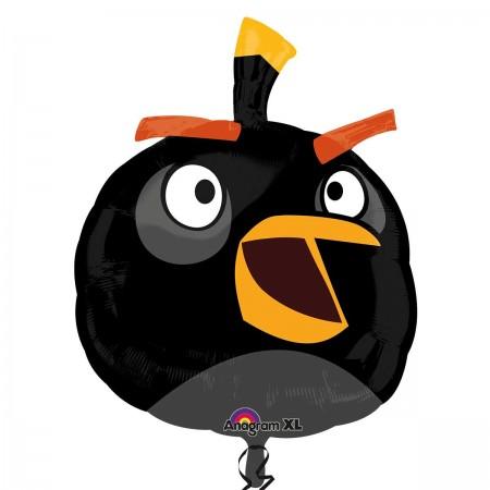 "23"" Angry Bird Black Foil Balloon (1)"