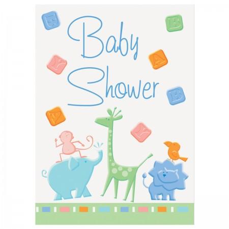 Animal Crackers Baby Shower Invitations (8)