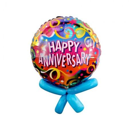 """Anniversary Confetti Foil Balloon 18"""" (1)"""