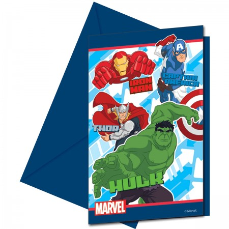 Avengers Invitations & Envelopes (6)
