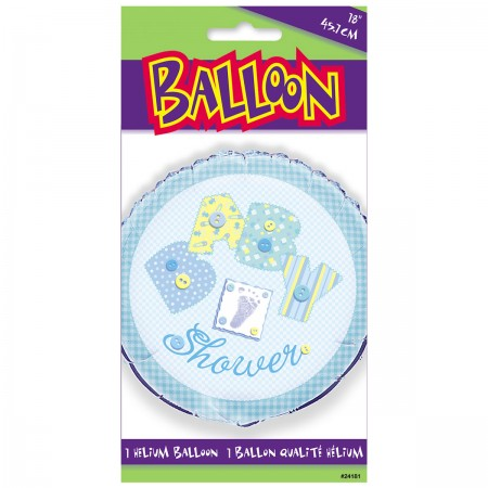 "Baby Blue Stitching 18"" Foil Balloon (1)"